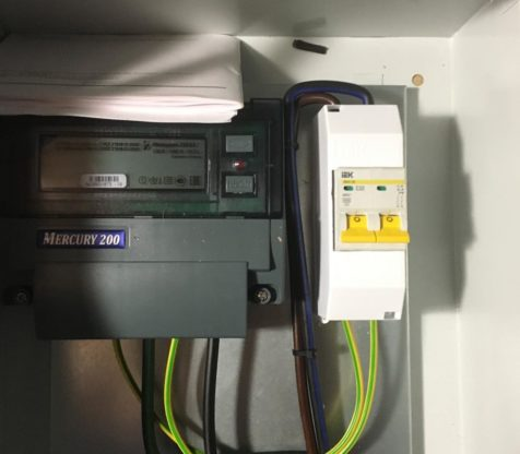 Подготовка ящиков учета электроэнергии с выносом на опоры