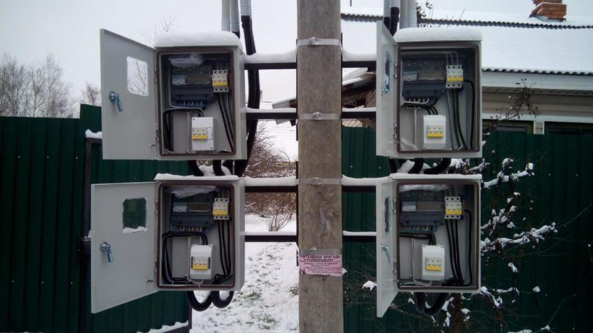 Вынос узла учёта электроэнергии